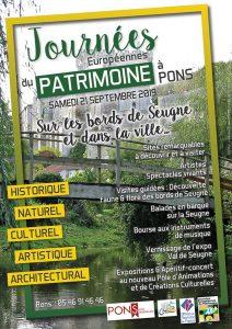 Les Journées Européennes du Patrimoine à Pons @ vallée de la Seugne à Pons | Pons | Nouvelle-Aquitaine | France