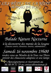 Balade Nature Nocturne - Marais de Pons @ moulin de la tour - Pons | Pons | Nouvelle-Aquitaine | France