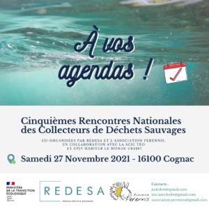 Rencontre 2021 du Réseau national Déchet Sauvage ReDeSa à Cognac @ Cognac